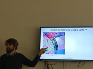 David explaining how LiDAR and Google Earth can be used together.